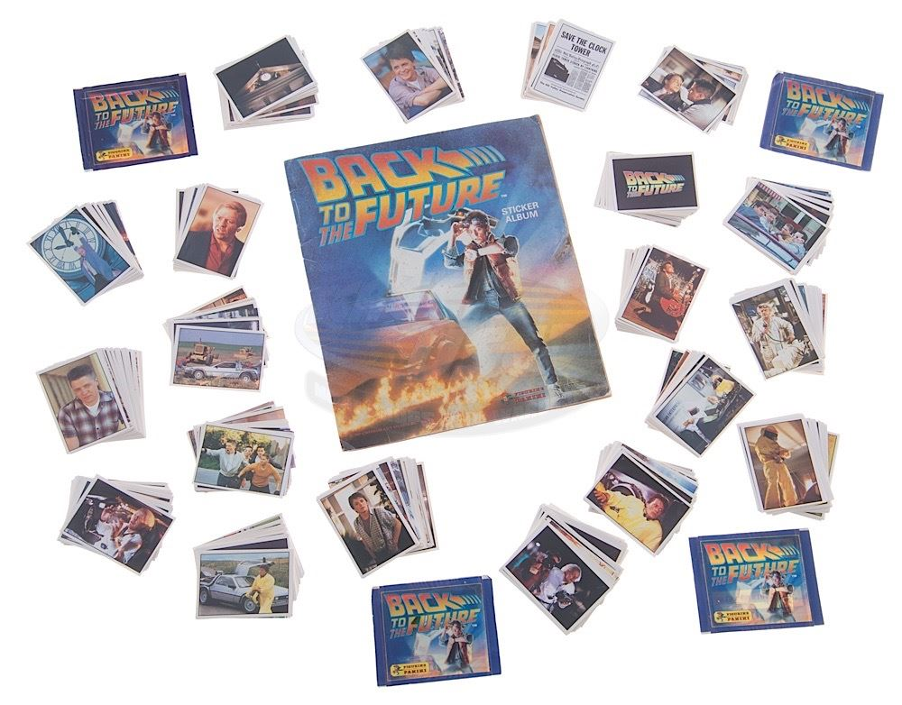 Back to the future rare panini sticker album stickers 17923 loading zoom