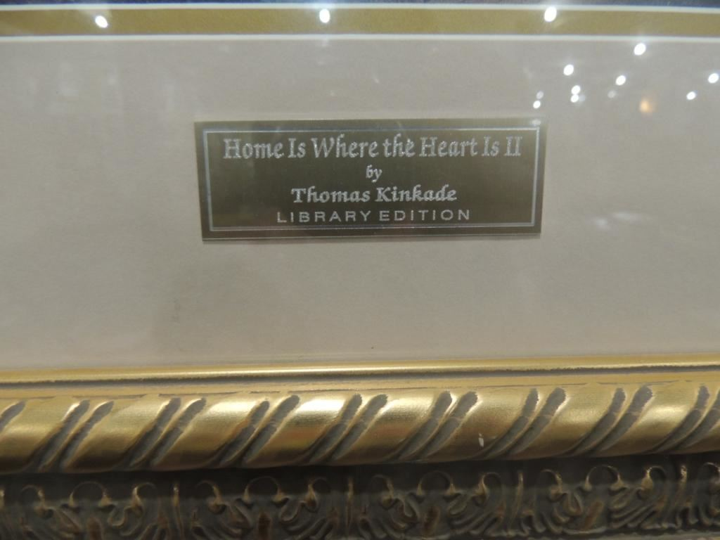 ... Image 4 : THOMAS KINKADE LIBRARY EDITION HOME IS WHERE THE T