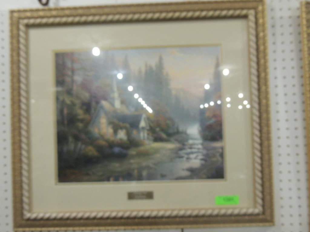 Image 1 : THOMAS KINKADE LIBRARY EDITION THE FOREST CHAPEL ...