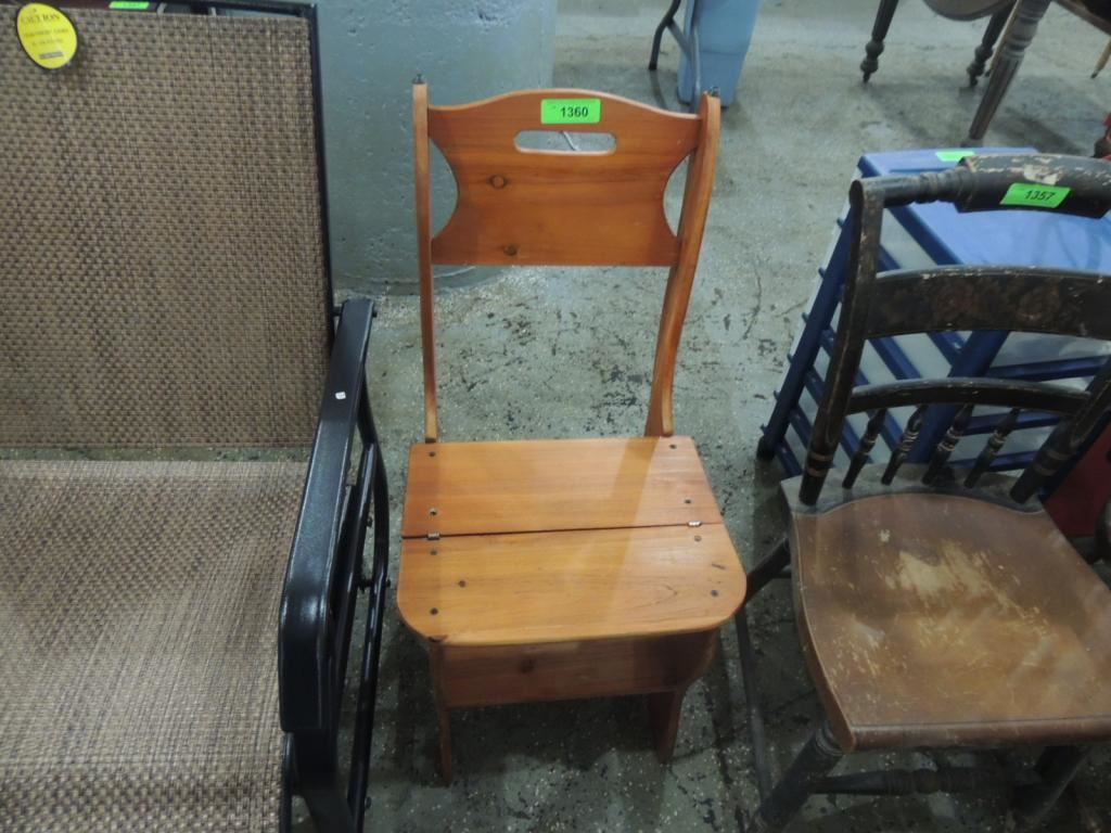 Wooden Chair Converts To Step Stool