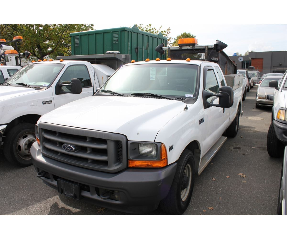 2001 ford f 250 xl 2 door ext dump white vin 1ftnx2cl41ea83833. Black Bedroom Furniture Sets. Home Design Ideas