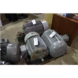 Pallet of large industrial electric motors for Electric motor repair indianapolis