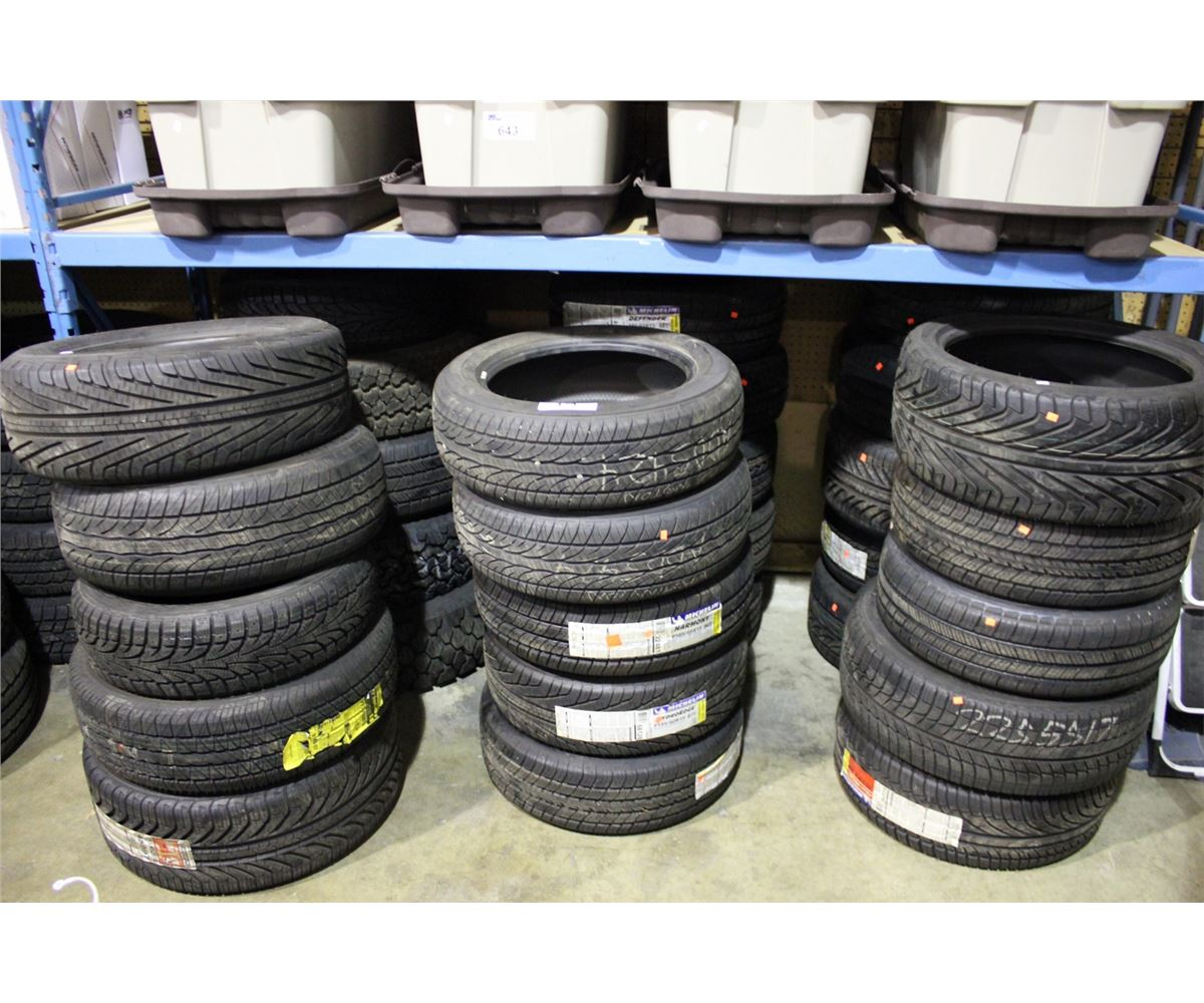 bay lot of assorted new used tires able auctions. Black Bedroom Furniture Sets. Home Design Ideas