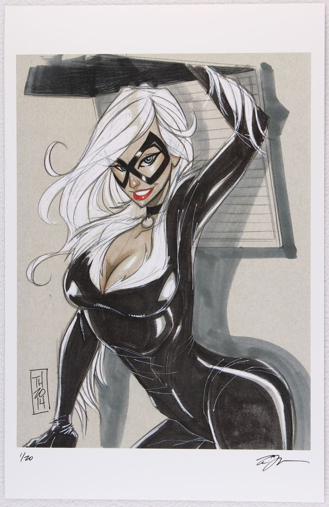 Black Cat Spider Man Villain Series Signed Limited Edition 11x17