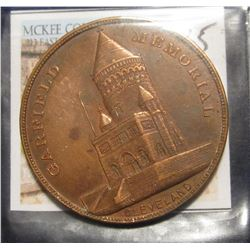 "35. ""Garfield Memorial/Cleveland"". Copper. 38mm."