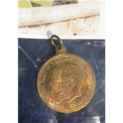 78. Commemorative Pendant Style Medal of the Visit of the Duke and Duchess of York. Railway Centenar