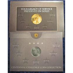 92. The American Legion Centennial Challenge Coin Collection. In original holder, 39 mm.