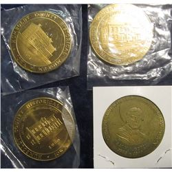 265. Partial Set of Humboldt, Iowa Historical Museum Medals. All 39mm, BU, Bright Brass. 1978, 76, 7