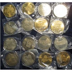 268. Partial Set of Bridges of Madison County 39mm Bright BU Medals. Includes: 1970-85.