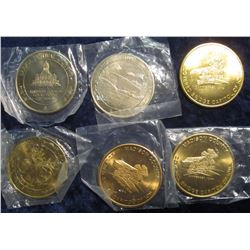 270. Partial Set of Bridges of Madison County 39mm Bright BU Medals. Includes: 1973, 76, 80, 81, & (