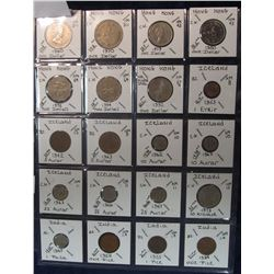 280. Plastic page containing (20) Different Coins from Hong Kong, Iceland, & India. All fully attrib