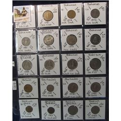 286. World Coins, 20 in page, all identified and from Austria, Bahamas, Bahrain, Barbados, & Belgium