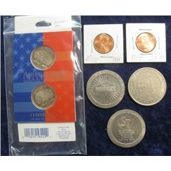 "303. 1999 P & D ""American Spirit Collection"" Connecticut Quarters Reg. $2.95; (2) 1995 ""BIE"" Mint Er"