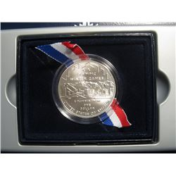 324. 2002 P Salt Lake XIX Olympic Winter Games Silver Dollar. Gem BU. Encapsulated in original Box o