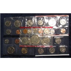 342. 1978 D & 1994 D Red packs of a U.S. Mint sets; 1981 P & 2000 P Blue packs of a U.S. Mint sets;