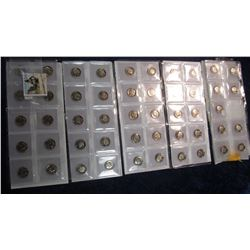344. Choice Grade Proof Dime Collection. 1965 to 2014, 2012 needed to complete. (49 coins total).