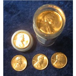 347. 1959 D Original BU Roll of Lincoln Cents in a Plastic Coin tube.