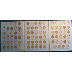 356. 1910-40 Partial Set of Lincoln Cents in a Whitman folder. (58 pcs.). Includes some semi-ley dat