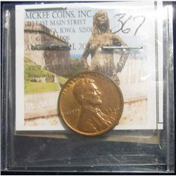 367. 1926 S Lincoln Cent. MS 64. Red and brown comes with NGC grading label (consignor states that i