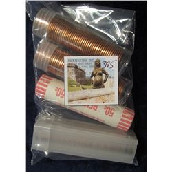 395. 1978 D, 80 D, 96 P, & 2000 P Original Gem BU Bank-wrapped Rolls of Lincoln Cents. ($2.00 face v