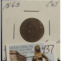 "437. 1861-65 CWT ""Not 1C"" ""Not"" Removed & Used in Commerce as 1C"