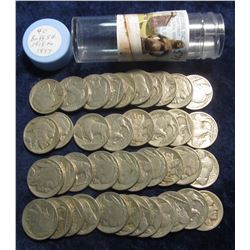 574. (40) Buffalo Nickels dating 1918 to 1937. Stored in a plastic tube.