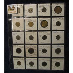 581. (20) Different Nebraska and North Dakota Transportation tokens dating back to 1919.  All attrib
