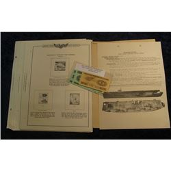 590. Minkus Publications Unused Stamp Pages; Typhoon Bill Duties list from WW II 1945 U.S.S. Steamer