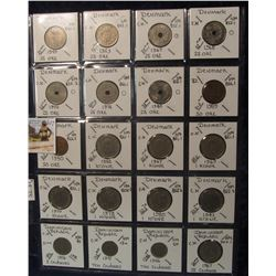 607. (20) World Coins in a Plastic Page, all identified with KM no. value, mintage, medal, & etc. In