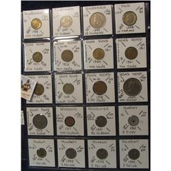 616. (20) World Coins in a Plastic Page, all identified with KM no. value, mintage, medal, & etc. In