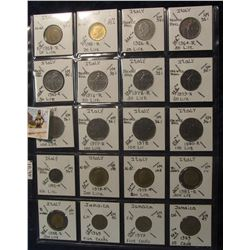 619. (20) World Coins in a Plastic Page, all identified with KM no. value, mintage, medal, & etc. In