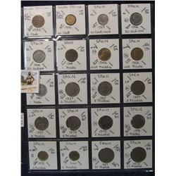 628. (20) World Coins in a Plastic Page, all identified with KM no. value, mintage, medal, & etc. In