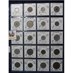 633. (20) World Coins in a Plastic Page, all identified with KM no. value, mintage, medal, & etc. In