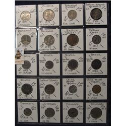 639. (20) World Coins in a Plastic Page, all identified with KM no. value, mintage, medal, & etc. In