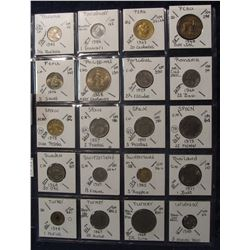 642. (20) World Coins in a Plastic Page, all identified with KM no. value, mintage, medal, & etc. In