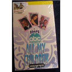 "717. Original Wrapped Wax Box of ""The Soaps of abc Featuring All My Children"", Cardart from Star Pic"