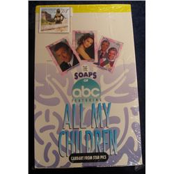 "718. Original Wrapped Wax Box of ""The Soaps of abc Featuring All My Children"", Cardart from Star Pic"