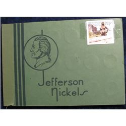 724. Complete set of 1938-1962 PDS Jefferson Nickels in an OLD, obsolete Wayte Raymond album. Includ