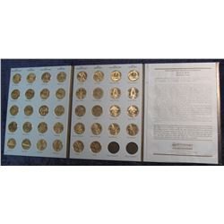 727. National Parks Quarters Collection Coin Starter book with (38) P & D coins going from 2010 Hot