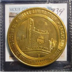"739. Binion Horseshoe $1 Gaming Token. From the Famous Ted Binion ""Horseshoe Casino"".  Ted Binion is"