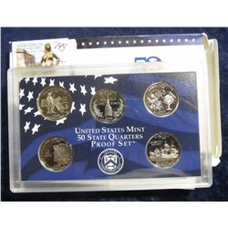 748. 2000 S U.S. Mint State Quarter Proof Set. (5 pcs.) Original as issued.