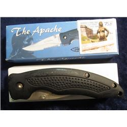 "758. ""The Apache"" # TA454B 4 1/2"" Closed Folding Knife.Stainless Steel Liner Lock blade. Thumb Stud."