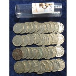 761. (40) Mixed Date Buffalo Nickels. Circulated. In a plastic tube.