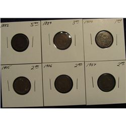 772. 1882, 89, 00, 05, 06 & 07 Indian head Cents. All Carded and Priced.