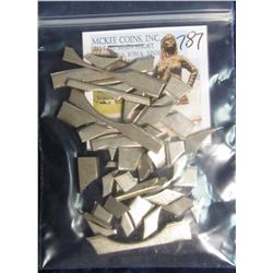 787. Approximately One Ounce U.S. Mint Clad Planchet Clippings. Scarce and rarely seen outside of th