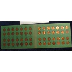 826. 1948-74 Set of Lincoln Cents in an old Wayte Raymond Album. Includes a few in an envelope. (60