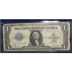 "849. Series 1923 U.S. One Dollar Silver Certificate ""Horse Blanket Note"", Large size. Signed Speelma"