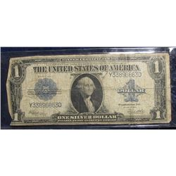 "850. Series 1923 U.S. One Dollar Silver Certificate ""Horse Blanket Note"", Large size. Signed Speelma"