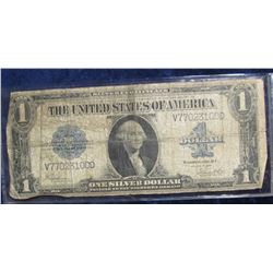 "851. Series 1923 U.S. One Dollar Silver Certificate ""Horse Blanket Note"", Large size. Signed Speelma"