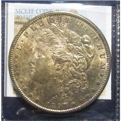 860. 1897 S Morgan Silver Dollar. Full Superbly toned MS 64.